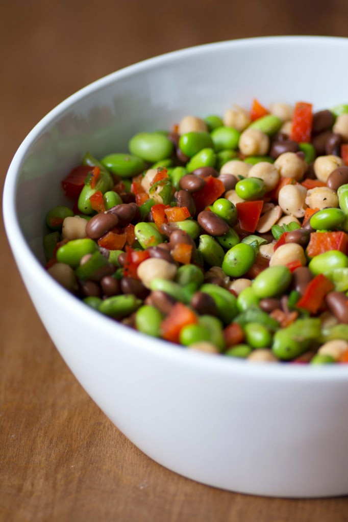 3 Bean Salad with Edamame from Stirlist.com