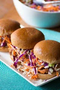 pork and cranberry sandwiches