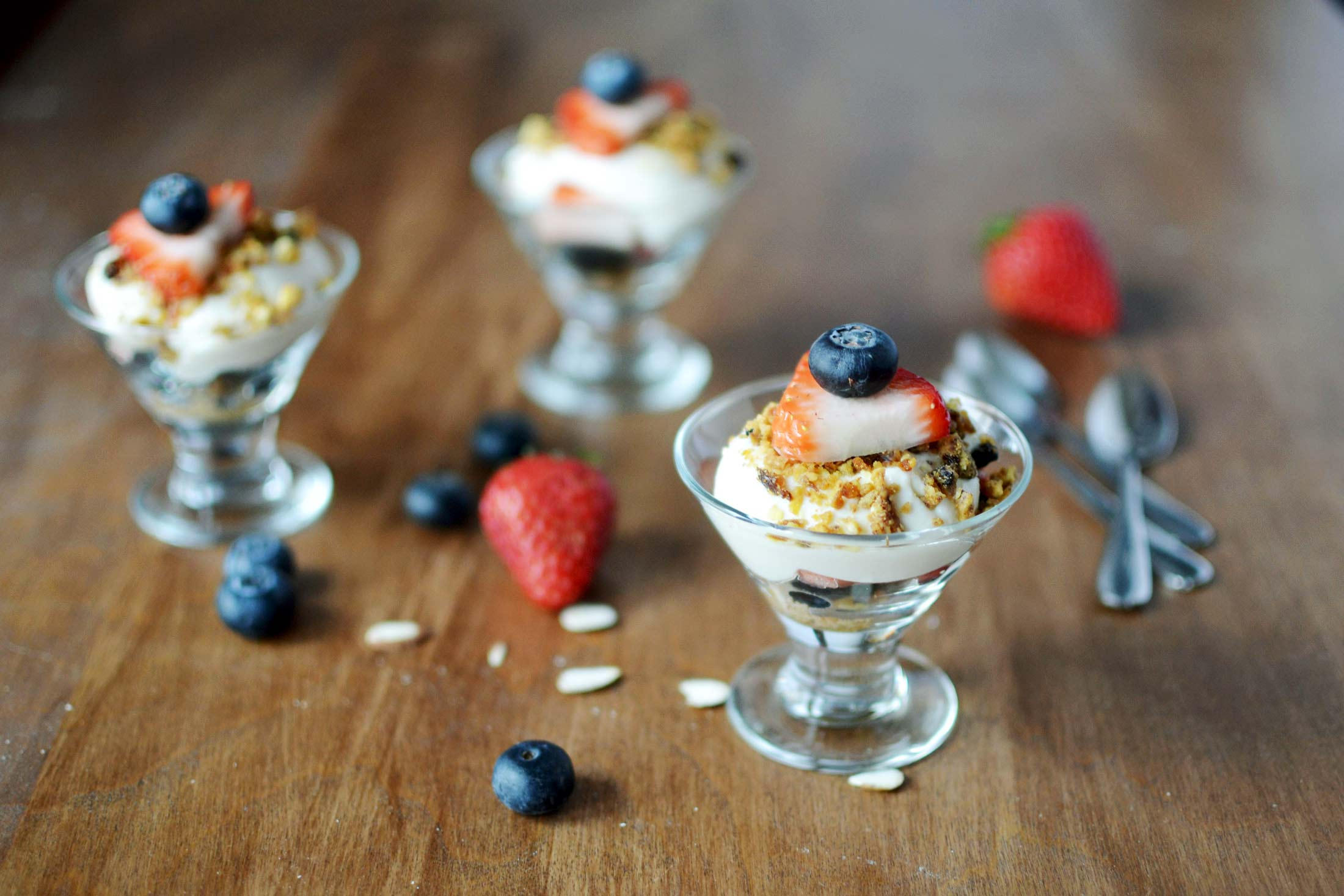 Fruit Parfait with Soy Cream