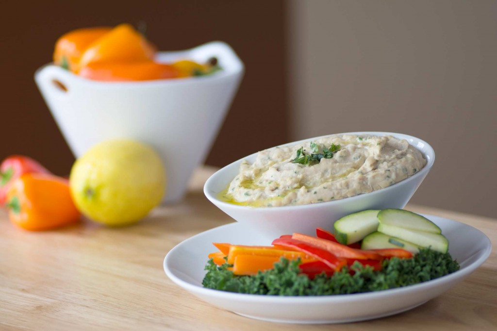 White Bean & Basil Hummus from Stirlist.com
