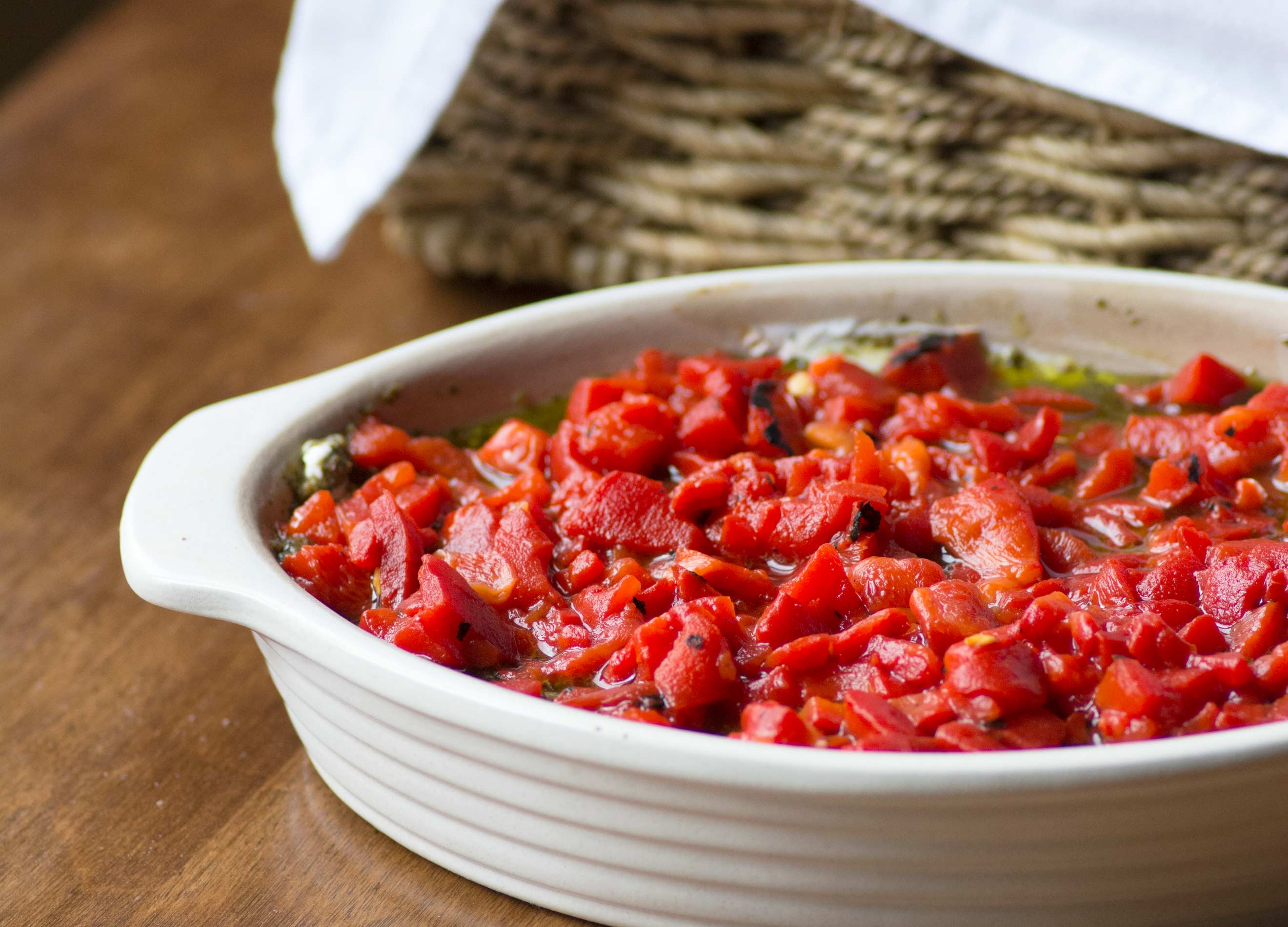Microwave Red Peppers Redpepperpesto