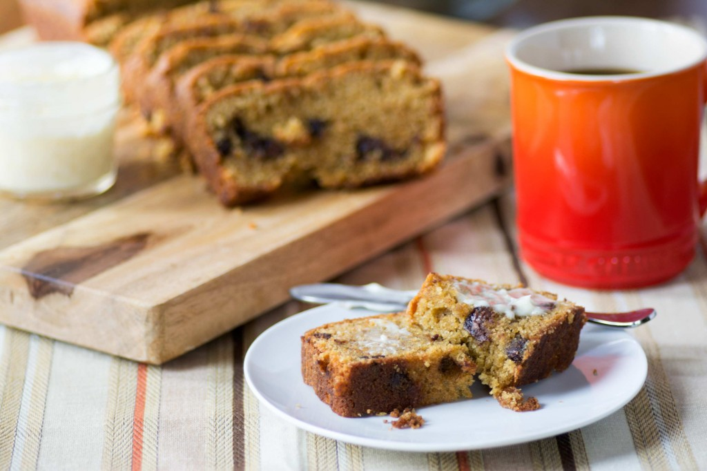 Chocolate Chip Pumpkin Bread from Stirlist.com