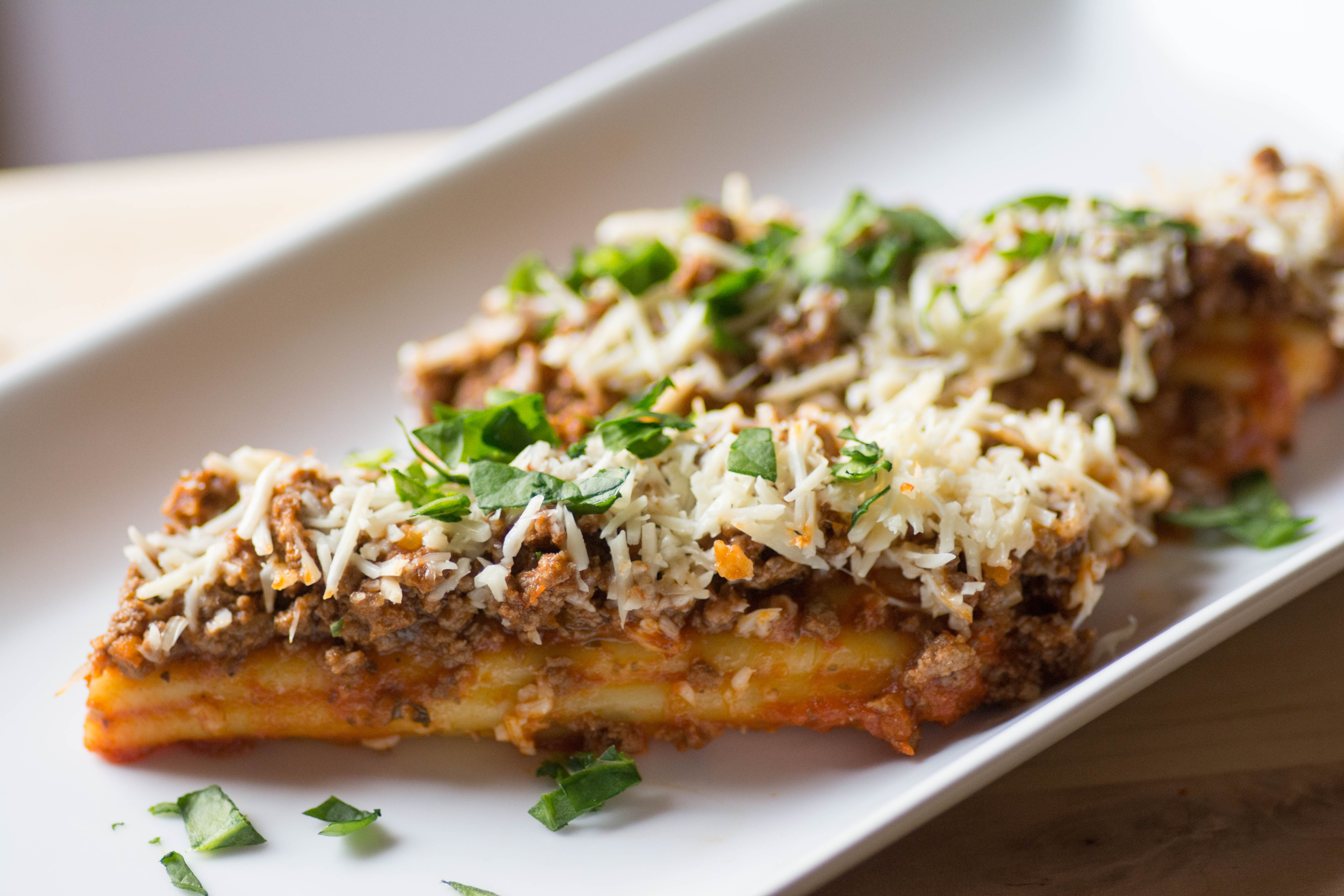 Loaded Manicotti With Fresh Spinach
