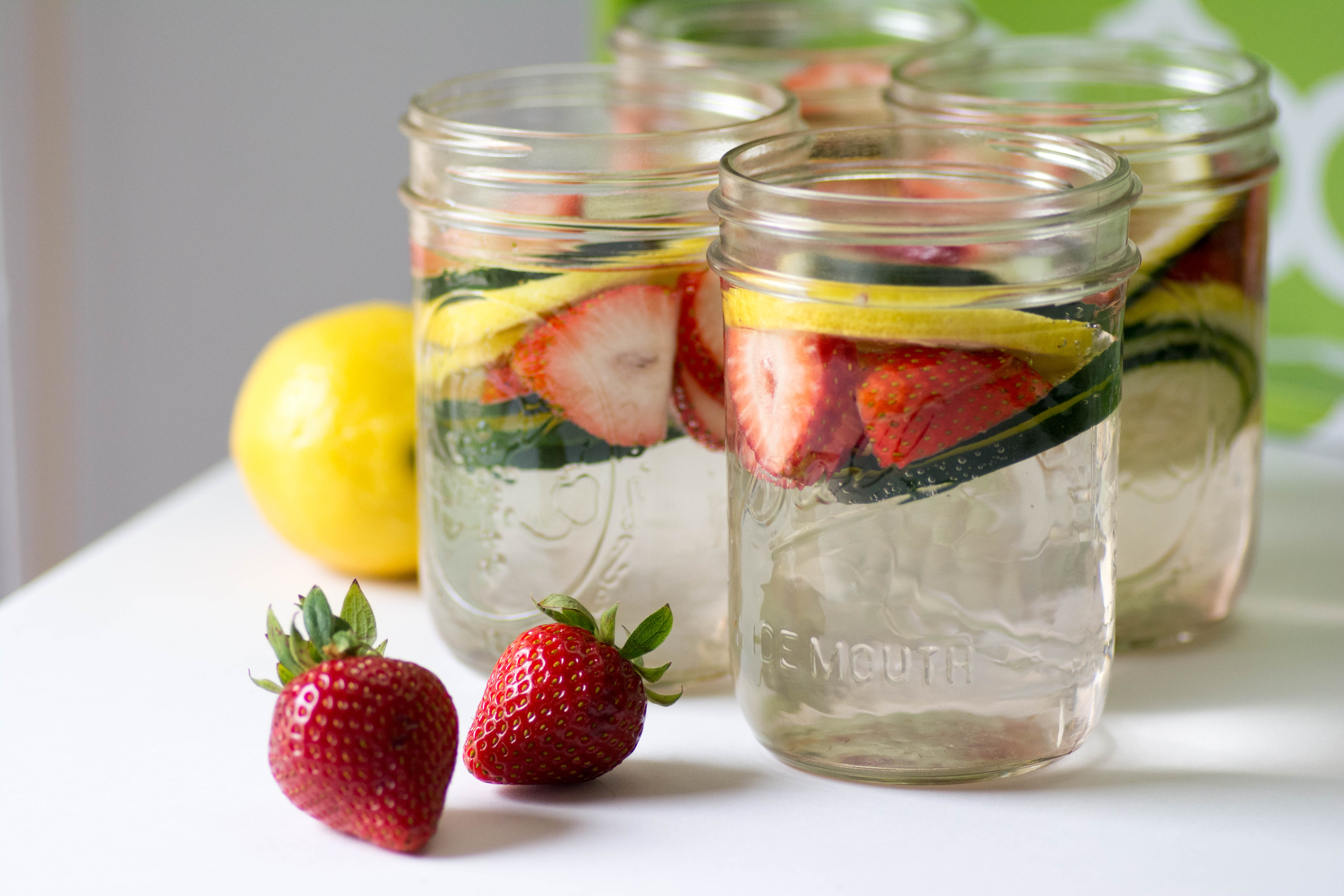 Strawberry Lemon Infused Water