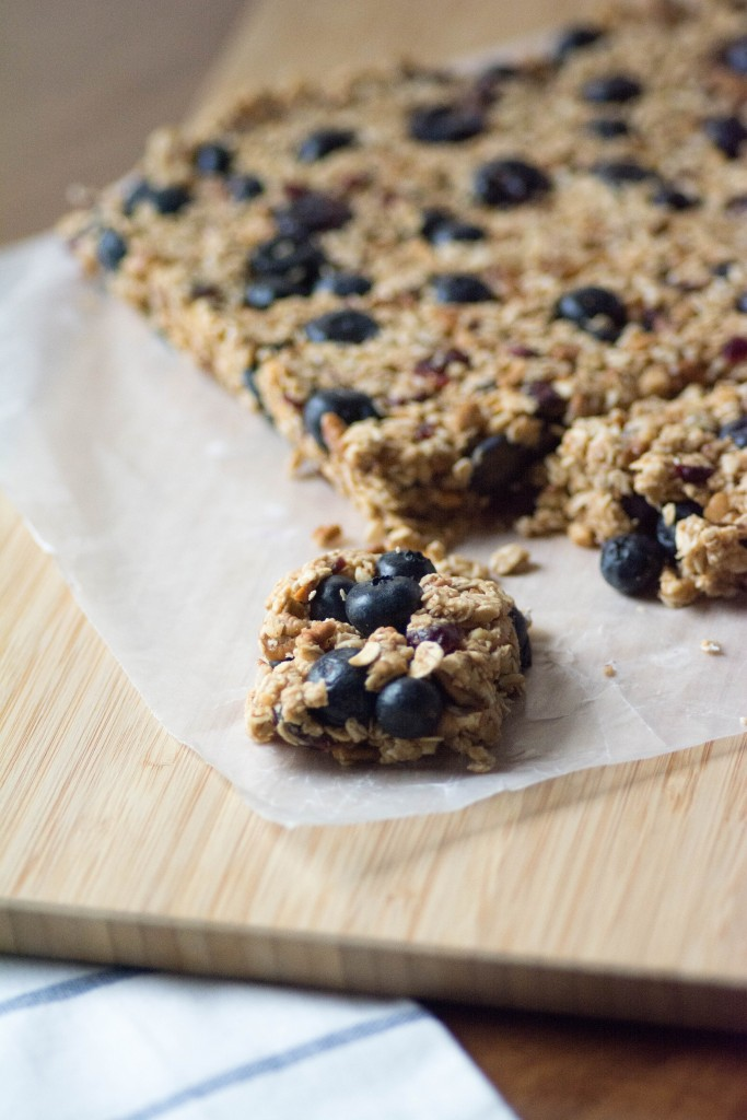 No Bake Blueberry Oatmeal Bars from Stirlist.com