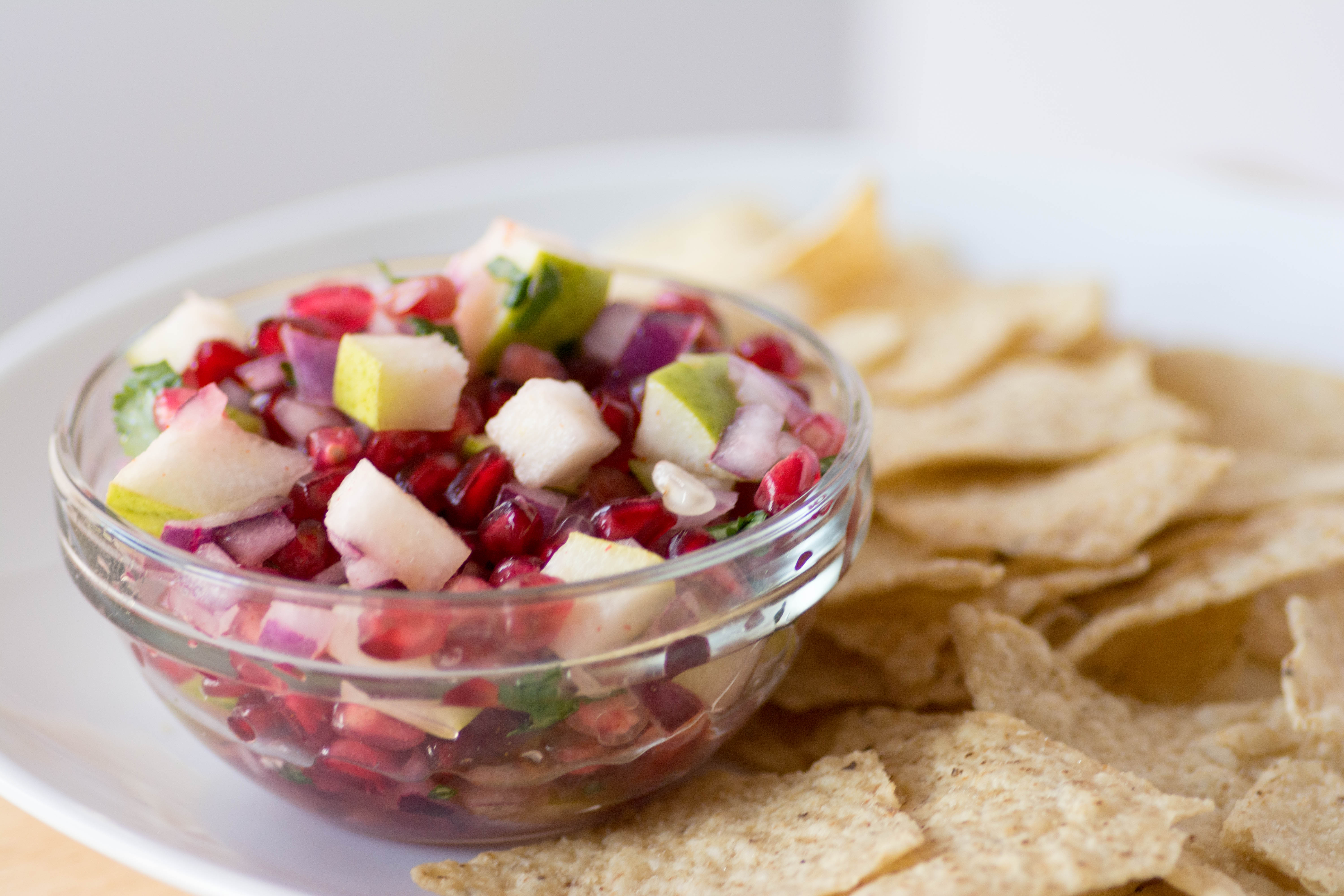Pear and Pomegranate Fruit Salsa