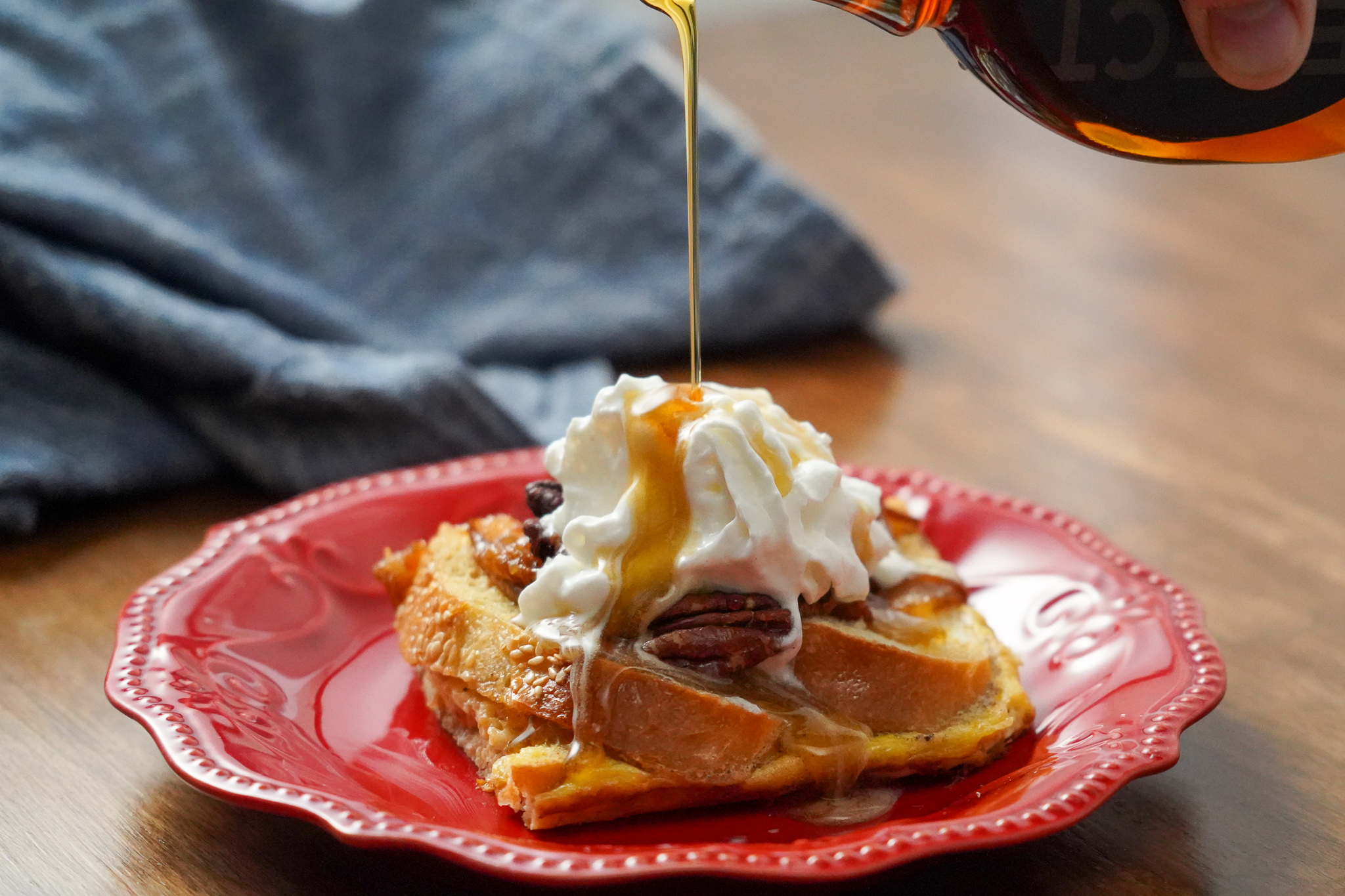 Baked Caramelized Pear and Pecan French Toast